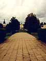 Droga i brama do pałacu Potockich..jpg