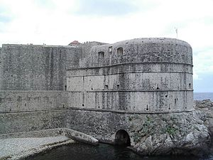Casemate - Fort Bokar was built as a two-story casemate fortress, standing in front of the medieval Walls of Dubrovnik in Croatia.