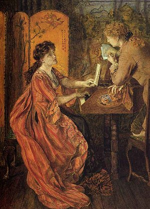 Lucy Madox Brown - The Duet by Lucy Madox Brown (1870)