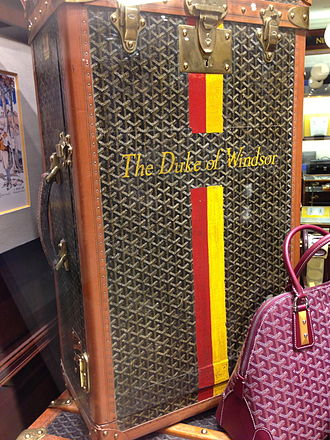 Goyard - Duke of Windsor trunks