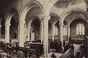1170s in architecture - Image: Durham Cathedral. Gallilee Chapel by James Valentine. c.1890