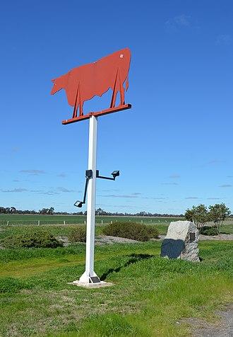 Durham Ox, Victoria - The Durham Ox sign