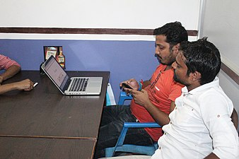 During Promotion of Maithili Wikipedia Meetup (1).jpg