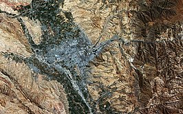 Dushanbe, Tagikistan (vista satellitare).jpg