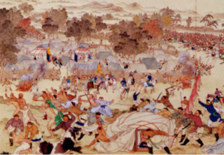 mass extermination of the Mongol Buddhist Dzungar people at the hands of the Manchu Qing dynasty of China and the Uyghurs of Xinjiang