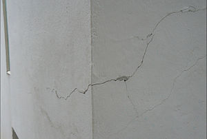 E-1027 - E-1027 after restoration (2013) one example of many cracked walls