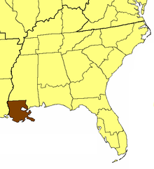 Location of the Diocese of Louisiana