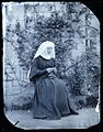 Early image of a nun knitting - wet plate collodion -5 (7939164128).jpg