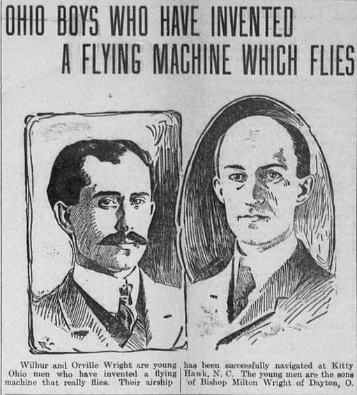 Early media coverage of the Wright Brothers