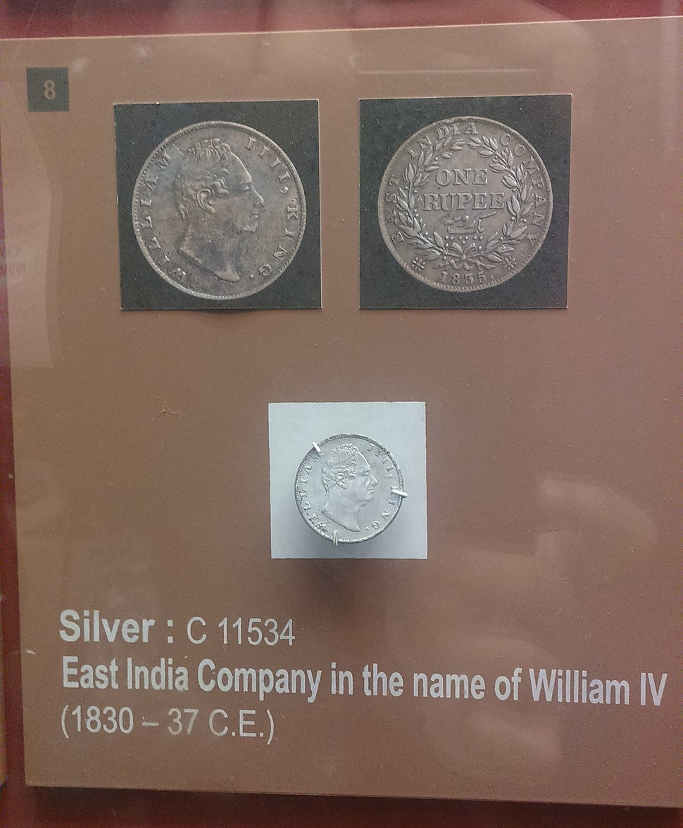 East India Company silver coin issued during William IV%27s reign