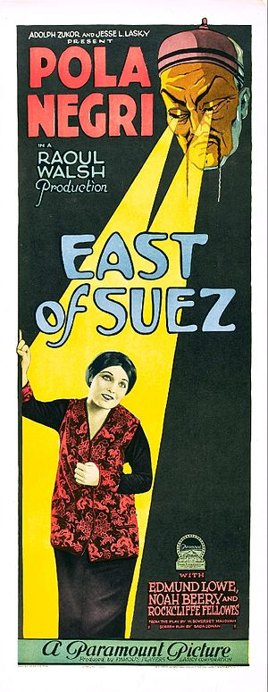East of Suez (1925 film) - Film poster