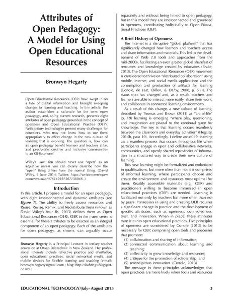 File:Ed Tech Hegarty 2015 article attributes of open pedagogy.pdf