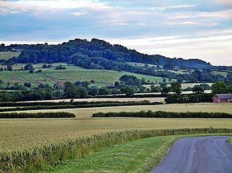 Richard Jago - Edge Hill, showing distinctive mediaeval ridge and furrow systems