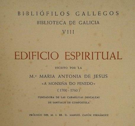 Edificio espiritual, detalle da edición de Bibliófilos Gallegos.