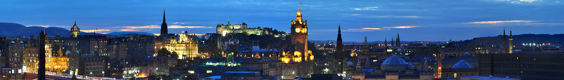 Edinburgh skyline at night