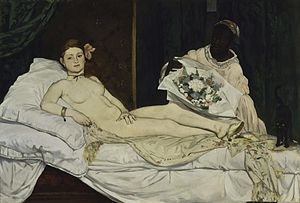 Odalisque with Raised Arms - Image: Edouard Manet Olympia Google Art Project