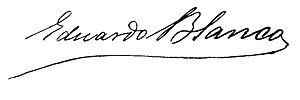 Eduardo Blanco (writer) - Image: Eduardo Blanco signature