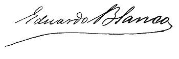 Eduardo Blanco signature