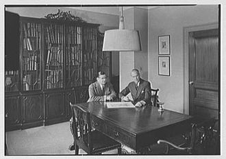 Eggers & Higgins - Eggers and Higgins in their New York City offices in a 1941 photo.
