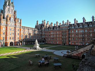 Royal Holloway, University of London - Founder's Building south quadrangle
