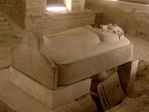 Sarcophagus - Stone sarcophagus of Pharaoh Merenptah.