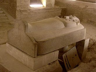 Valley of the Kings - Merenptah's stone sarcophagus in KV8