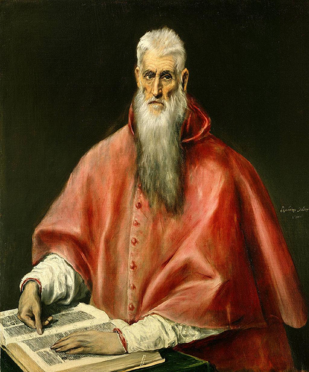 """""""Saint Jerome as Scholar"""" by El Greco"""