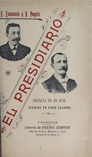File:El presidiario - zarzuela en un acto, dividido en cinco cuadros, original y en verso (IA elpresidiariozar00peyd).pdf