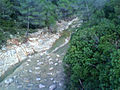 El riu Gorgos portant aigua en la tardor.jpg