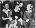 Eleanor Roosevelt, Anna Roosevelt, John Boettiger, Jr., and Curtis Roosevelt - NARA - 195335.tif