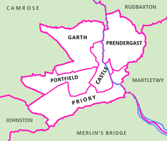 Electoral wards in and surrounding the town of Haverfordwest, Pembrokeshire.png