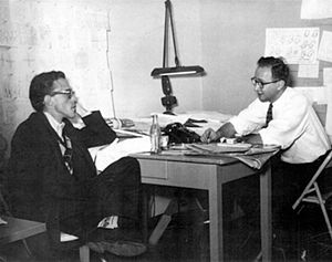 Eli Bauer - Eli Bauer (left) and Gene Deitch