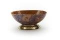 Eliptisk, kupig skål av brunviolett agat med inslag av mossagat - Skoklosters slott - 92136.tif