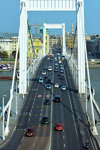 Elisabeth Bridge (Budapest) - The bridge in 2017