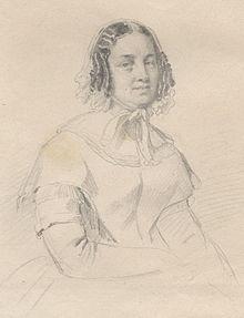 Elisabeth Hummel geb. Röckel, Bleistiftzeichnung von Friedrich Pecht, 1845 – Düsseldorf, Goethe-Museum (Quelle: Wikimedia)