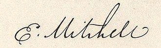 Elisha Mitchell - Image: Elisha Mitchell Autograph