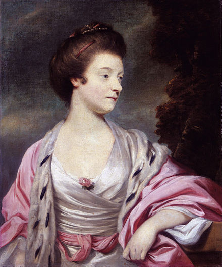On 26 March 1767 Jeffrey Amherst married Elizabeth, daughter of General George Cary (portrait by Sir Joshua Reynolds, 1767).