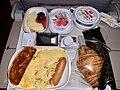 Emirates Economy class in-flight breakfast meal Dubai to Brisbane, 2019.jpg