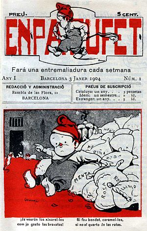 Patufet - Cover of the first issue of En Patufet magazine