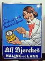 Enamel advertising sign, Alf Bierckes.JPG