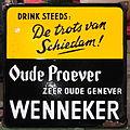 Enamel advertising sign, Oude Proever, zeer oude genever, ENNEKER.JPG