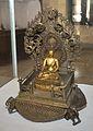 Enthroned Seated Buddha - Bronze - Showcase 12-1 - Bronze Gallery - Government Museum - Mathura 2013-02-24 6641.JPG