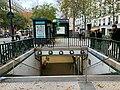 Entrée Station Métro Jacques Bonsergent Paris 2.jpg