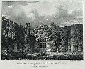 Entrance, & Banqueting Hall, Raglan Castle