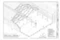 Erecting Shop Structural Isometric - Southern Pacific, Sacramento Shops, Erecting Shop, 111 I Street, Sacramento, Sacramento County, CA HAER CA-303-A (sheet 7 of 9).png