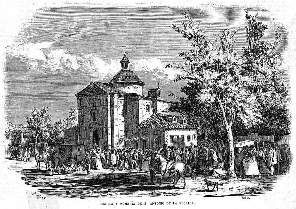 Romería en la Ermita de San Antonio de la Florida en 1857