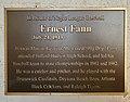 Ernest Fann plaque, Luther Williams Field.jpg