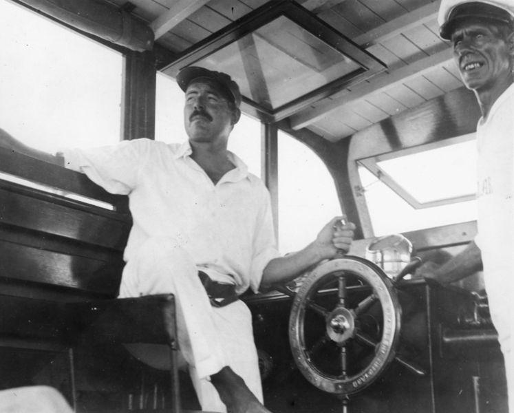 File:Ernest Hemingway and Carlos Gutierrez aboard Pilar, Key West, 1934.jpg