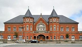 railway station in Esbjerg Municipality, Denmark