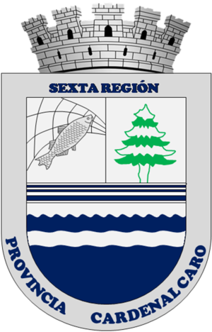Coat of arms of Pichilemu - The local government and CODECO were seeking for a coat of arms similar to that of the province of Cardenal Caro.
